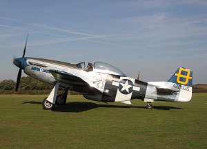 Peter taxys on the grass at Old Warden