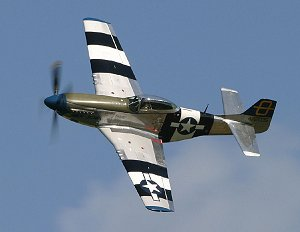 The P-51 during a display